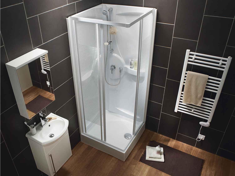 installation de parois de douche en blocs de verre