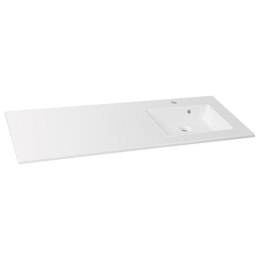 Plan Vasque 1 Robinet Resine 100 Cm : Plan vasque simple modern résine de synthèse cm