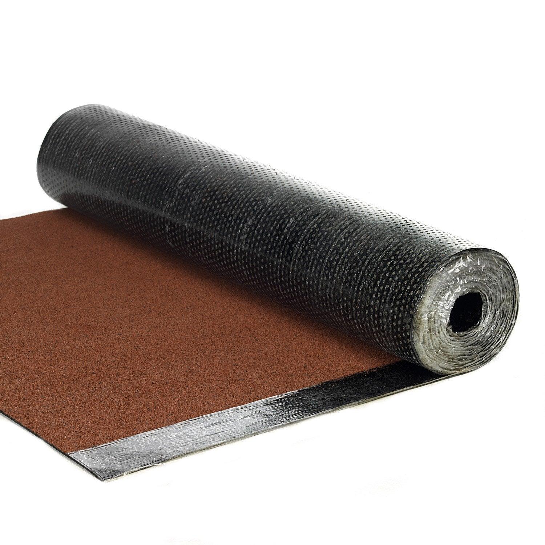 Bardeau en rouleau rouge l 1 x l 7 5 m asphaltco leroy - Produit nettoyage toiture leroy merlin ...