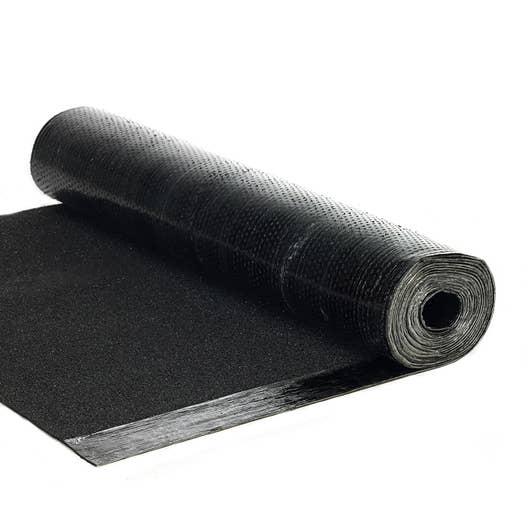 bardeau en rouleau noir l 1 x l 7 5 m asphaltco leroy merlin. Black Bedroom Furniture Sets. Home Design Ideas