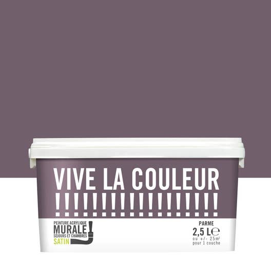 Peinture parme VIVE LA COULEUR! 2.5 l | Leroy Merlin
