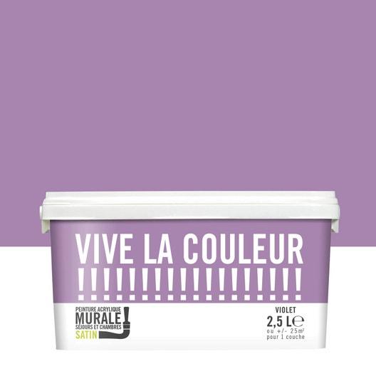 Peinture violet VIVE LA COULEUR! 2.5 l | Leroy Merlin