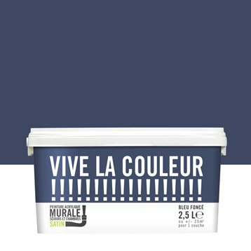 Peinture bleu foncé VIVE LA COULEUR! 2.5 l