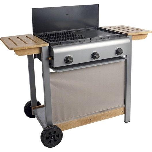 Barbecue au gaz NATERIAL Wombat 3 brûleurs, gris