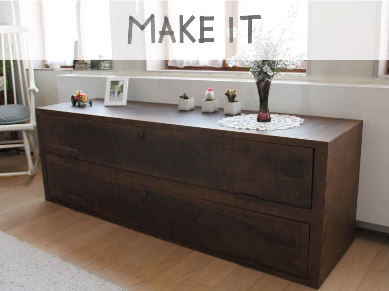 Peindre un meuble leroy merlin - Customiser un meuble ancien en bois ...