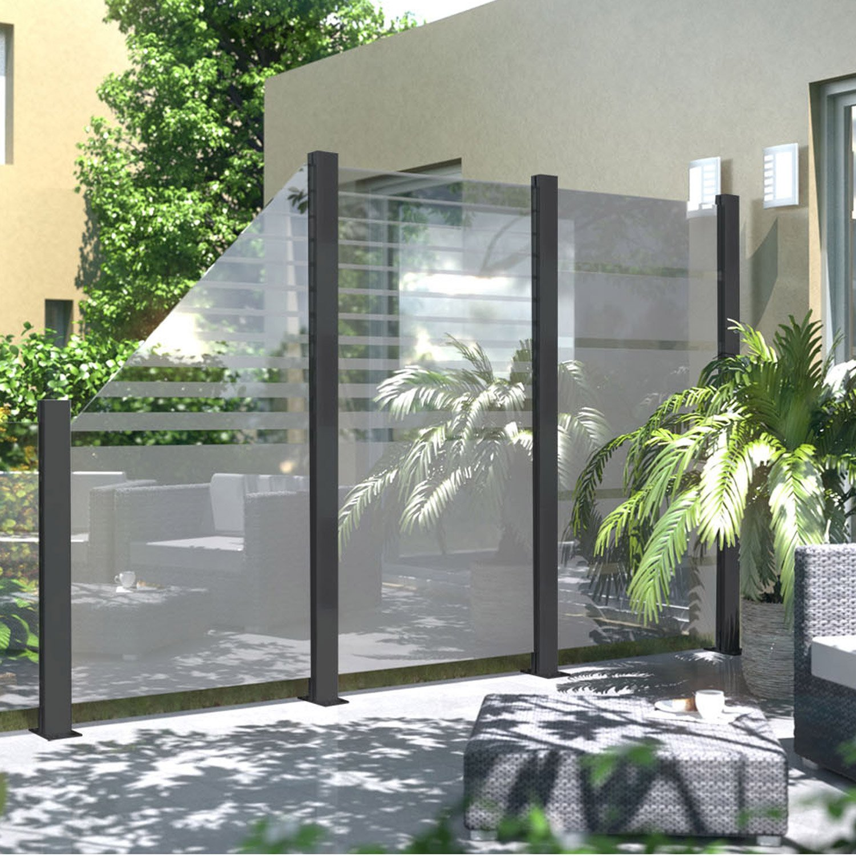 panneau verre occultant 2310 x cm transparent leroy merlin. Black Bedroom Furniture Sets. Home Design Ideas