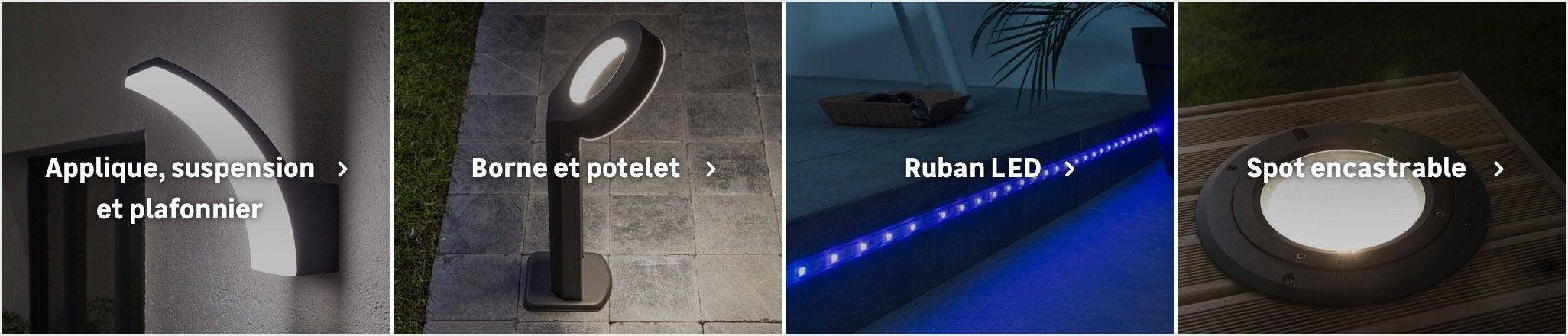 Eclairage De Terrasse Sur Pied eclairage terrasse et allées au meilleur prix | leroy merlin