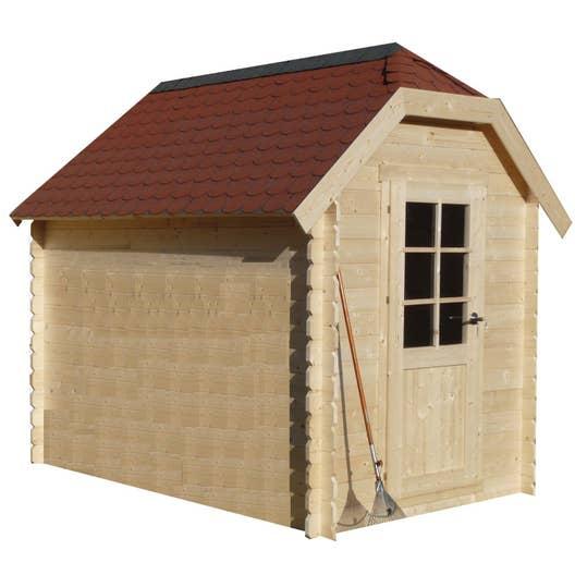 abri de jardin bois cottage m mm leroy merlin. Black Bedroom Furniture Sets. Home Design Ideas