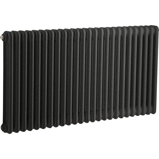 radiateur chauffage central tesi noir cm 1515 w leroy merlin. Black Bedroom Furniture Sets. Home Design Ideas