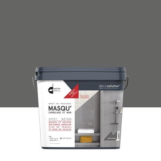 enduit masqu 39 carrelage et mur maison deco pierre de lave 9 kg leroy merlin. Black Bedroom Furniture Sets. Home Design Ideas