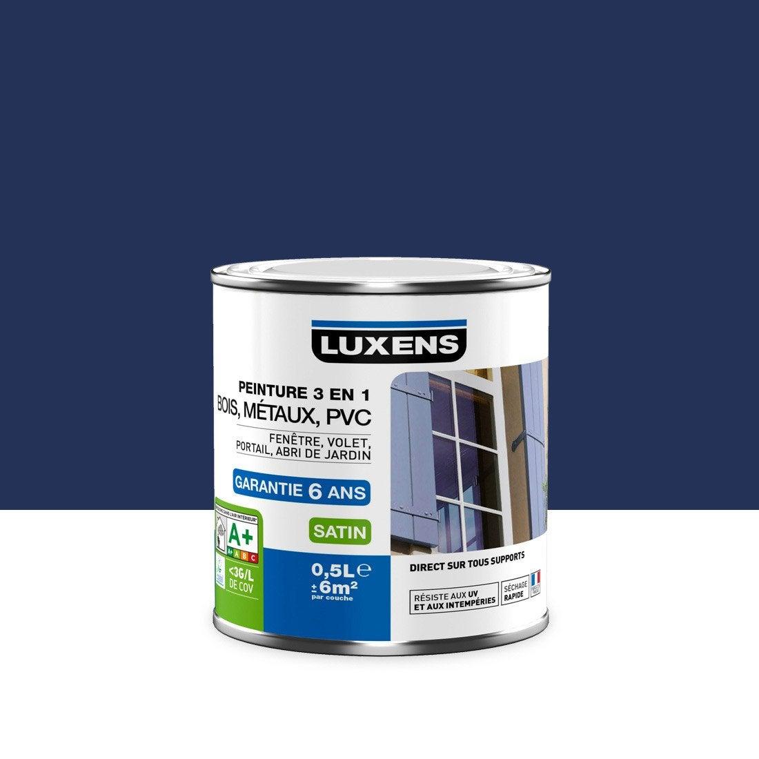 peinture multimat riau ext rieur 3 en 1 luxens bleu bleu n 1 0 5 l leroy merlin. Black Bedroom Furniture Sets. Home Design Ideas