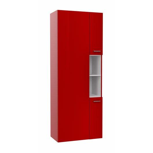 Colonne l.65 x H.172.9 x P.33 cm, rouge, Remix | Leroy Merlin