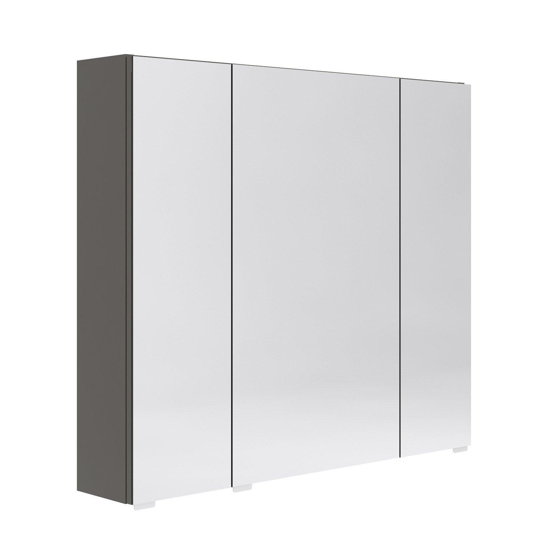 Armoire de toilette l. 80 cm, gris Opale