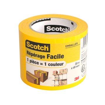 Rouleau adhésif de repérage jaune fluo SCOTCH 30m