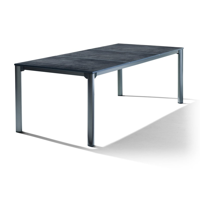 table de jardin sieger puroplan rectangulaire gris 8 personnes