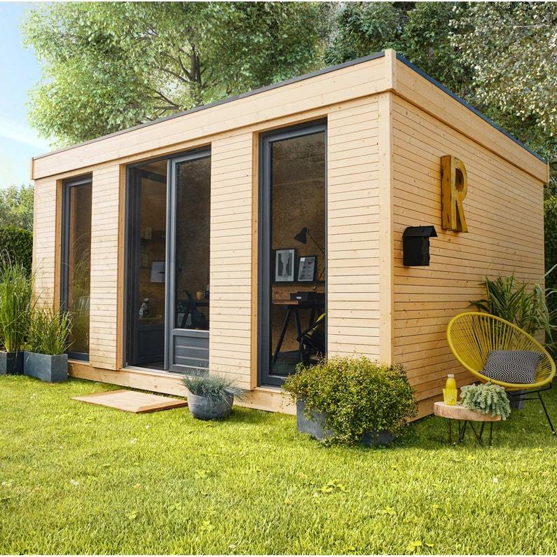 Abri de jardin bois Decor home Ep.19 mm, 15.24 m² | Leroy Merlin