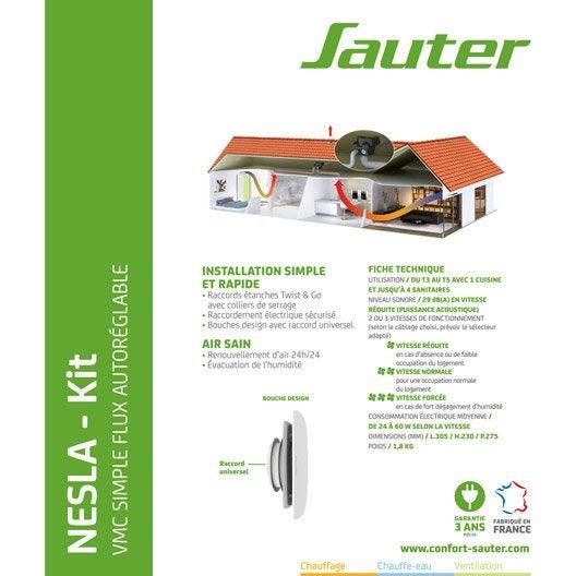 kit vmc simple flux autor glable sauter nesla leroy merlin. Black Bedroom Furniture Sets. Home Design Ideas