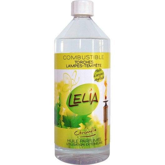 huile à la citronnelle pour torche et lampe à huile léila siam, 1l
