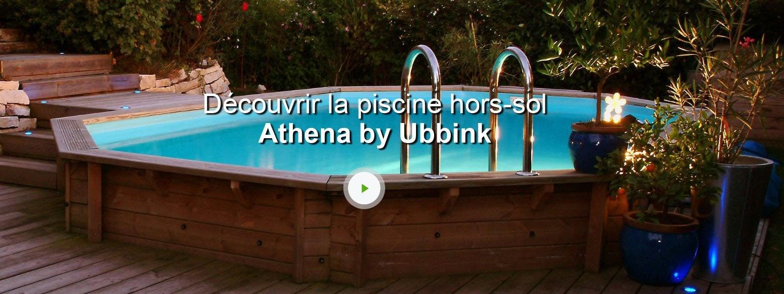 Piscine hors sol bois athena ubbink l 6 1 x l 4 x h 1 2 m for Piscine bois hors sol ubbink