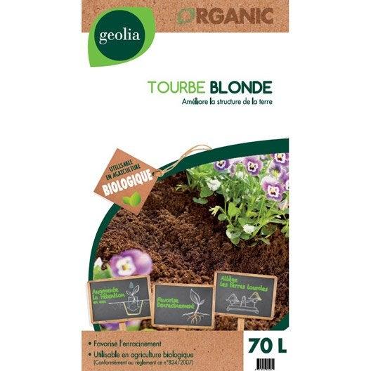 Tourbe blonde GEOLIA, 70 l