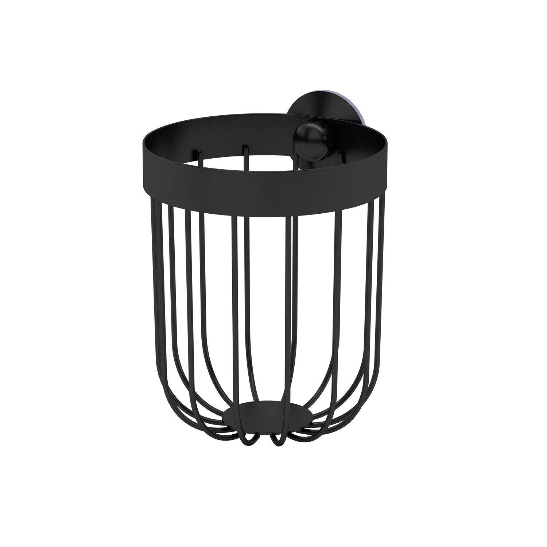Panier de bain / douche rond à visser, black 0, Neo