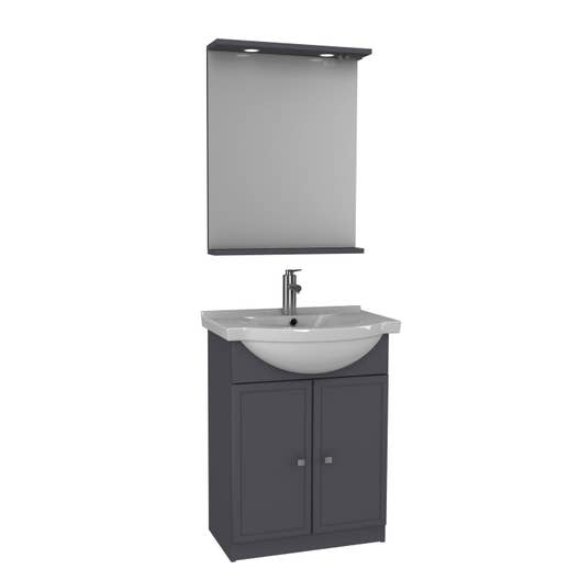 Meuble Vasque 65 Cm Gris Galice Leroy Merlin
