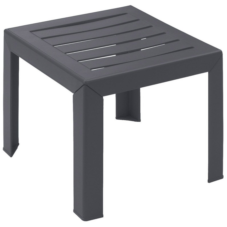 table basse grosfillex miami carr e anthracite 2 personnes. Black Bedroom Furniture Sets. Home Design Ideas