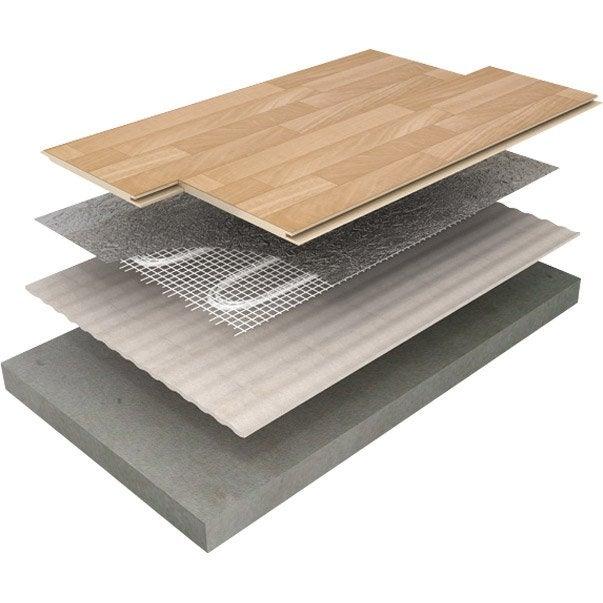 plancher chauffant lectrique equation fmd 150 6 0 900 w x cm leroy merlin. Black Bedroom Furniture Sets. Home Design Ideas