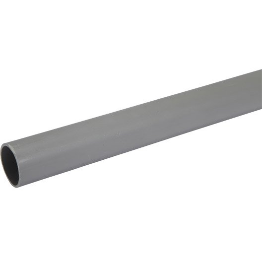 Tube d 39 vacuation pvc mm l 4 m leroy merlin - Quel diametre tuyau pvc evacuation ...