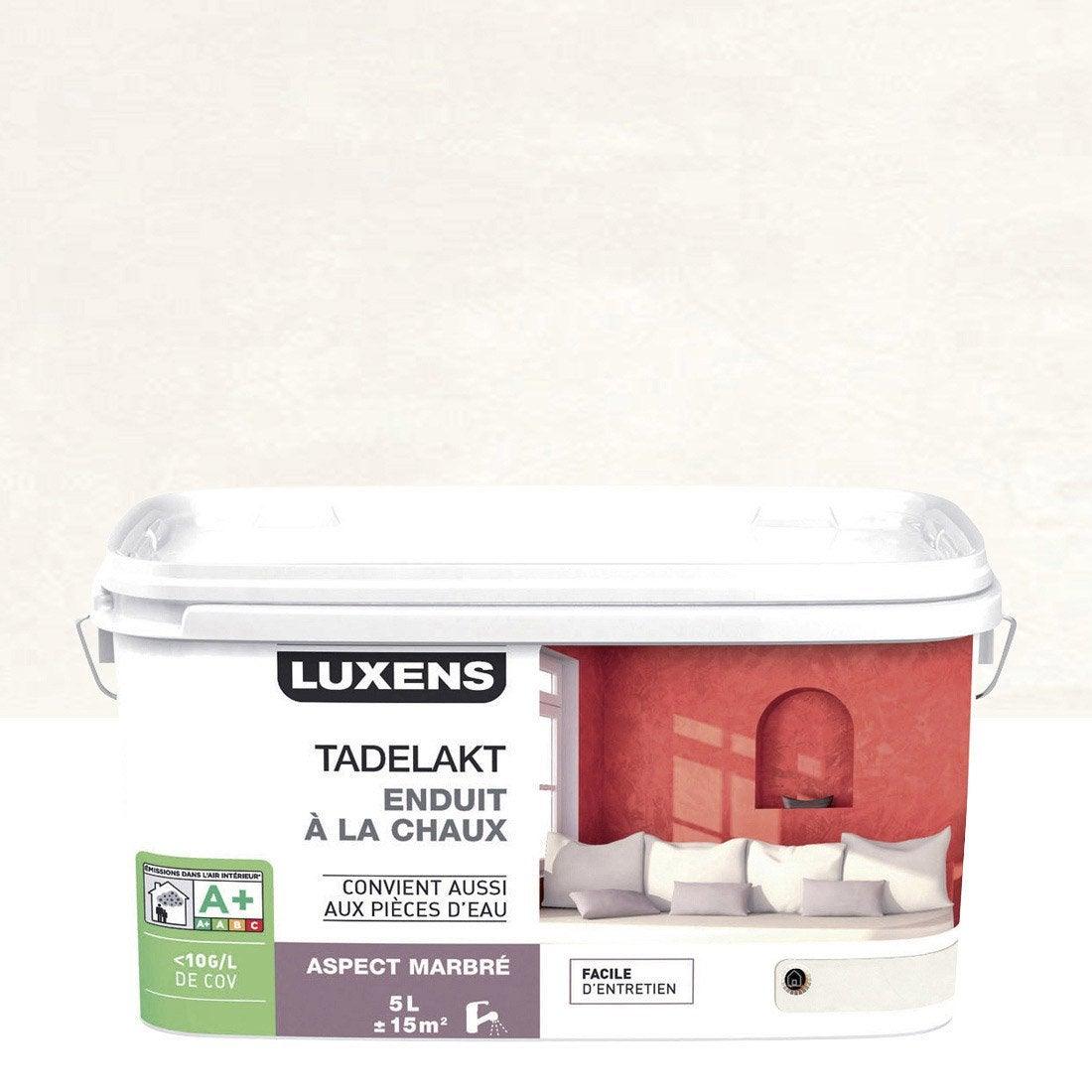Peinture à Effet, Tadelakt LUXENS, Blanc Calcaire 3, ...