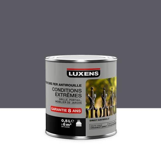 Peinture fer ext rieur antirouille luxens gris galet n 1 for Peinture luxens gris galet
