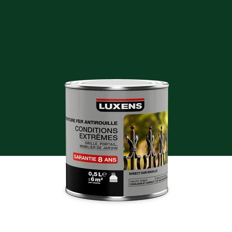 Peinture Fer Extérieur Antirouille Luxens Vert Sapin 05 L