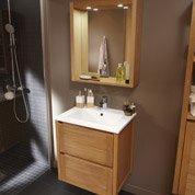 Pose d'un meuble de salle de bains simple vasque jusqu'à 120 cm