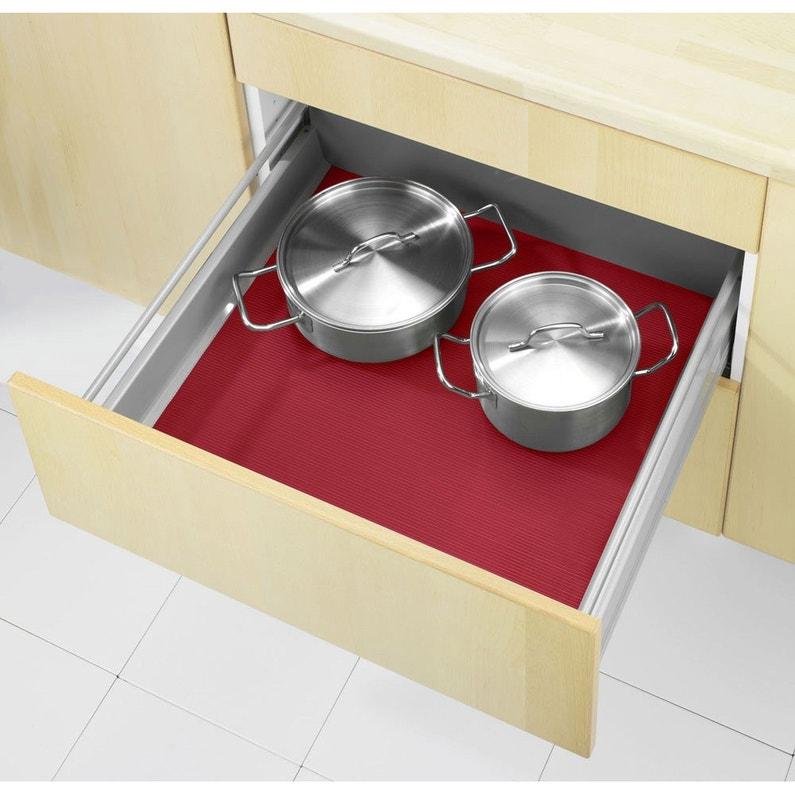 tapis fond de tiroir plastique rouge x cm leroy merlin. Black Bedroom Furniture Sets. Home Design Ideas