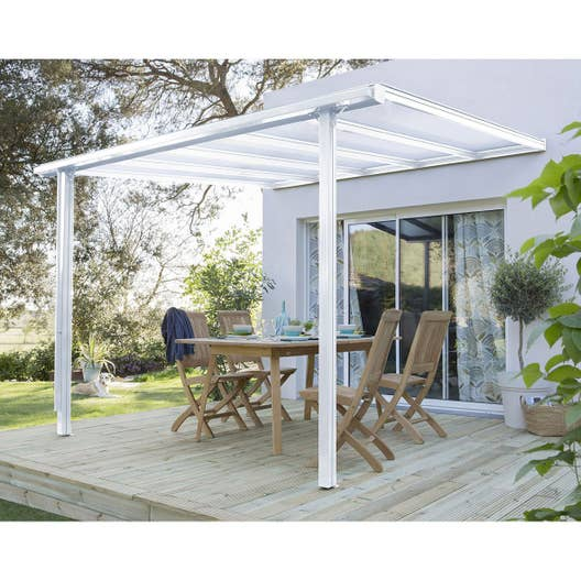 couverture de terrasse adoss e tradition aluminium. Black Bedroom Furniture Sets. Home Design Ideas