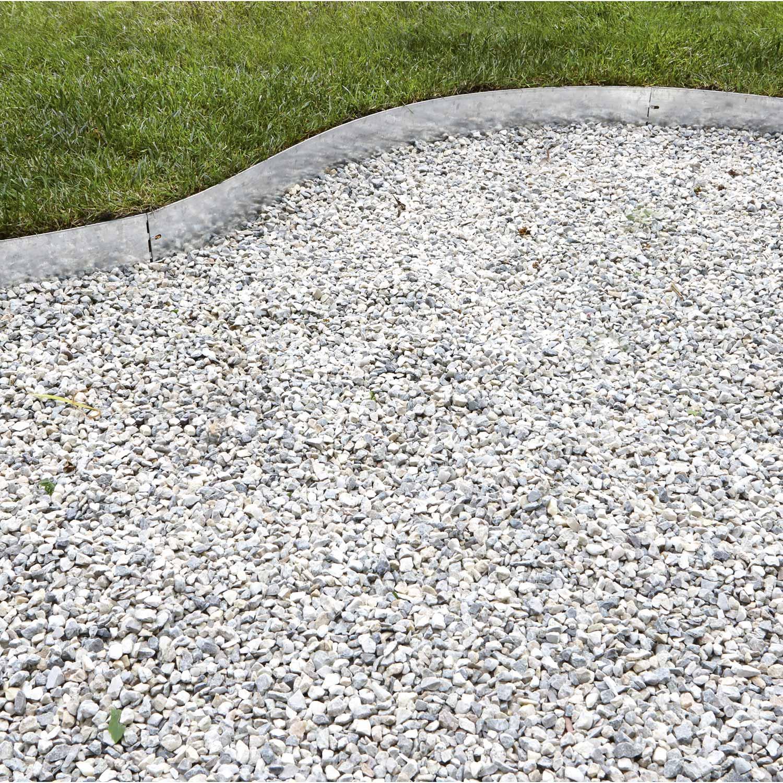 Bordure à planter Metal acier galvanisé gris, H.9 x L.9 cm ...