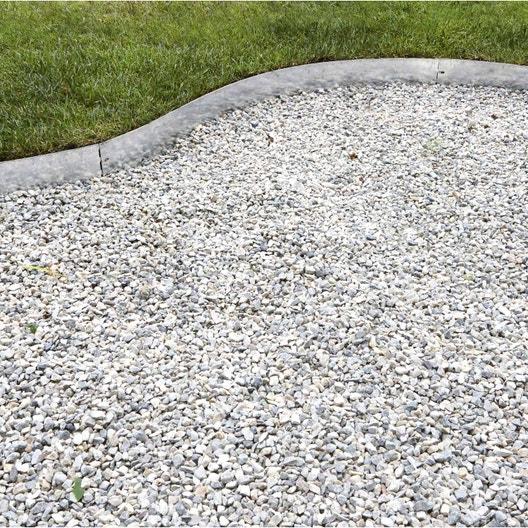 Bordure à planter Metal acier galvanisé gris, H.13 x L.118 cm ...