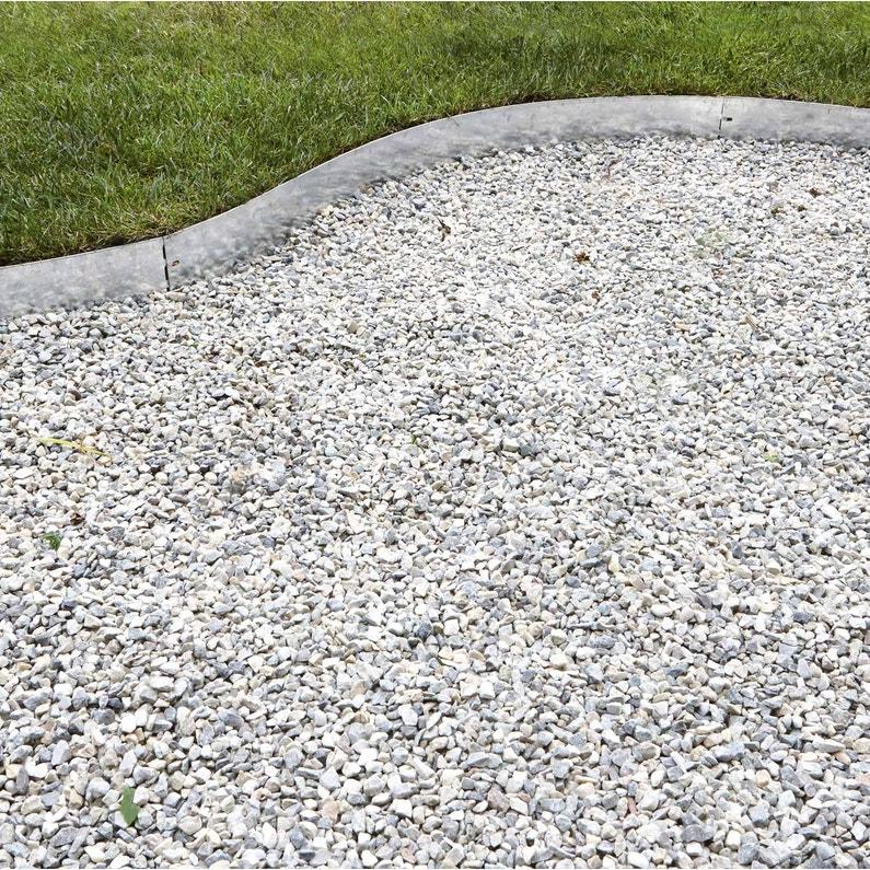 Bordure à Planter Metal Acier Galvanisé Gris H 13 X L 118 Cm