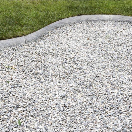 bordure planter metal acier galvanis gris x cm leroy merlin. Black Bedroom Furniture Sets. Home Design Ideas