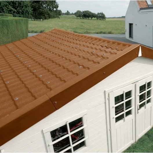 Plaque imitation tuile, toiture abri de jardin, bac acier ...
