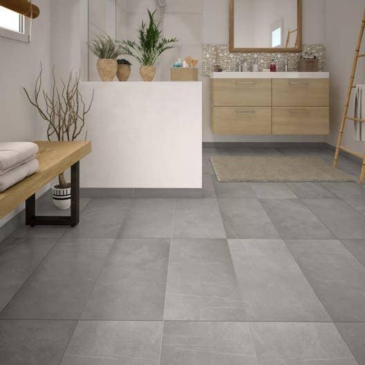 carrelage sol gris effet pierre sicile x cm leroy merlin. Black Bedroom Furniture Sets. Home Design Ideas