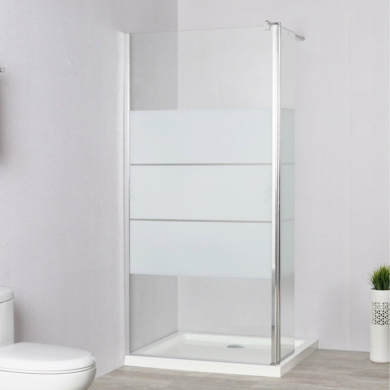paroi de douche l 39 italienne cm cm verre. Black Bedroom Furniture Sets. Home Design Ideas
