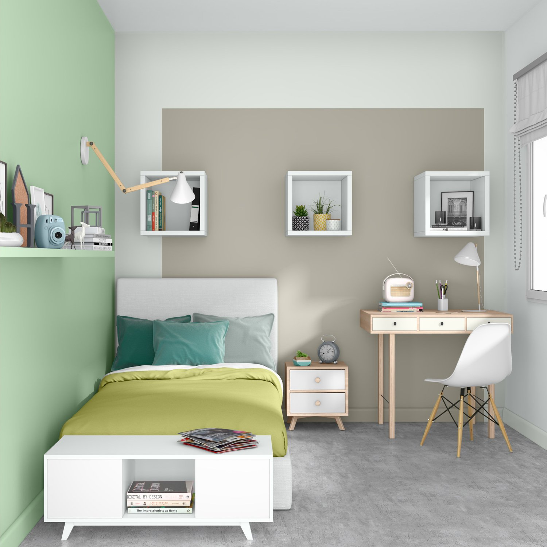 Emejing Chambre Vert Beige Images - House Design - marcomilone.com