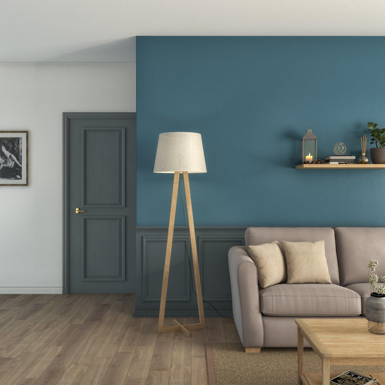 Un Salon Combine De Bleus Leroy Merlin