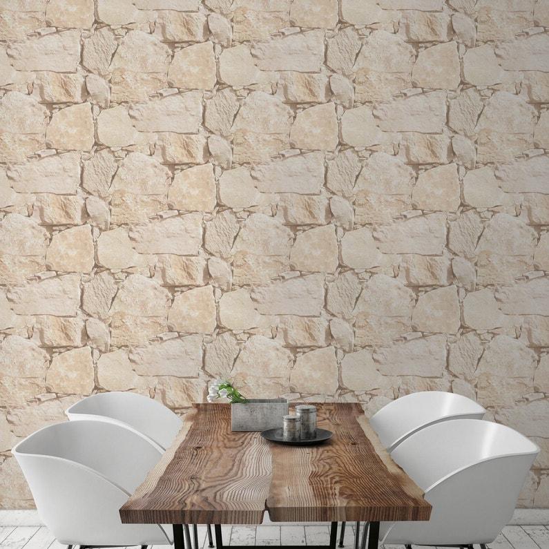 papier peint pierre relief interesting papier peint relief coucher peint accessoire prix pierre. Black Bedroom Furniture Sets. Home Design Ideas
