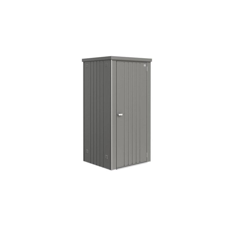 Armoire de jardin métal T90 gris quartz, l.93 x H.182.5 x P.83 cm ...