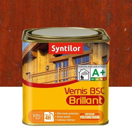 vernis syntilor bsc brillant l bois rouge leroy merlin. Black Bedroom Furniture Sets. Home Design Ideas