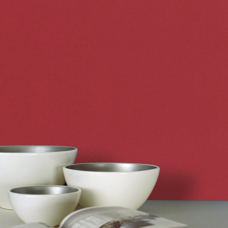 papier peint intiss lisse mat rouge leroy merlin. Black Bedroom Furniture Sets. Home Design Ideas