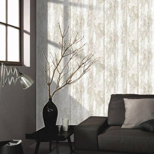 papier peint papier monrovilla blanc leroy merlin. Black Bedroom Furniture Sets. Home Design Ideas