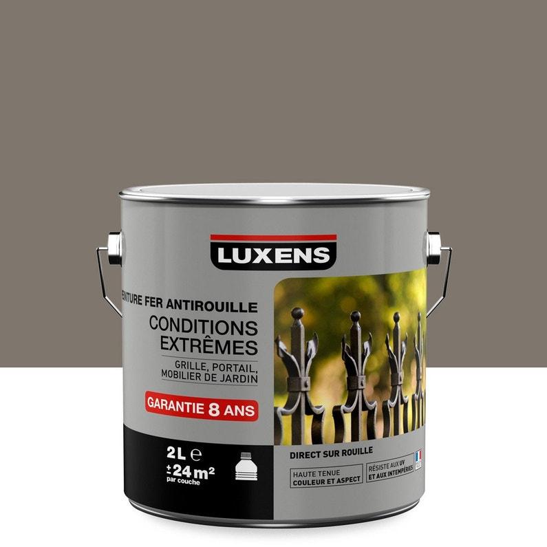 Peinture Fer Extérieur Antirouille Luxens Brun Taupe N3 2 L
